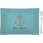 Chic Beach House Rectangular Appetizer / Dessert Plate