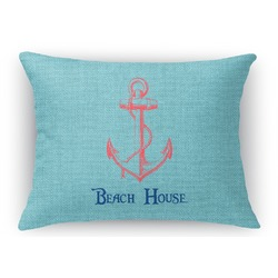 Chic Beach House Rectangular Throw Pillow Case