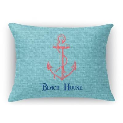 Chic Beach House Rectangular Throw Pillow Case