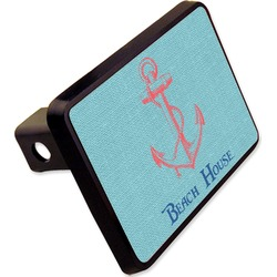 Chic Beach House Rectangular Trailer Hitch Cover - 2""