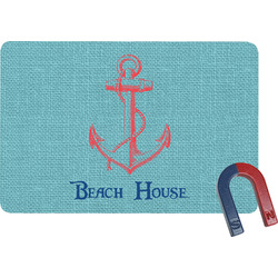 Chic Beach House Rectangular Fridge Magnet