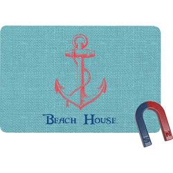 Chic Beach House Rectangular Fridge Magnet