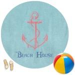 Chic Beach House Round Beach Towel