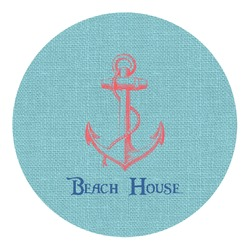 Chic Beach House Round Decal