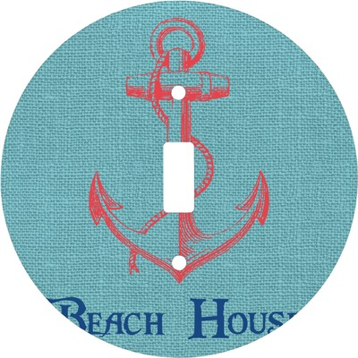 Chic Beach House Round Light Switch Cover