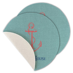Chic Beach House Round Linen Placemat