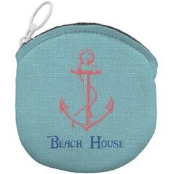 Chic Beach House Round Coin Purse