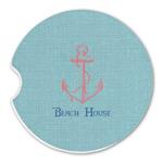 Chic Beach House Sandstone Car Coasters