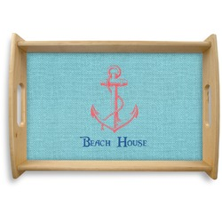 Chic Beach House Natural Wooden Tray