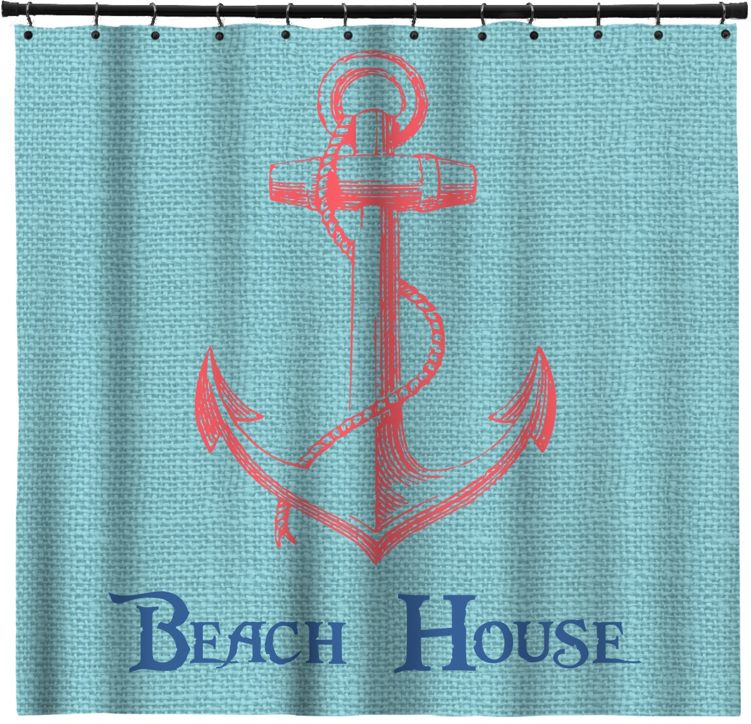 Chic Beach House Shower Curtain