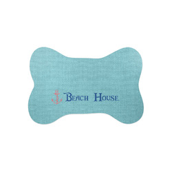 Chic Beach House Bone Shaped Dog Food Mat (Small)