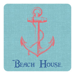 Chic Beach House Square Decal - Medium