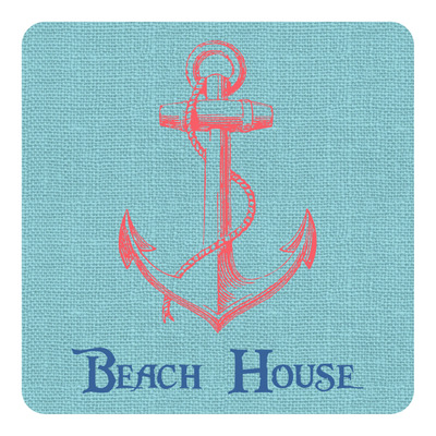 Chic Beach House Square Decal