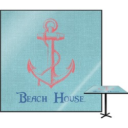 Chic Beach House Square Table Top