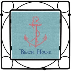 Chic Beach House Square Trivet
