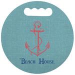 Chic Beach House Stadium Cushion (Round)