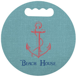Chic Beach House Stadium Cushion (Round)