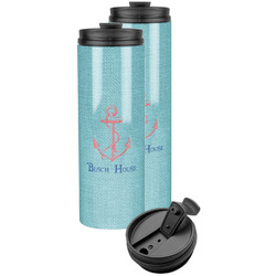 Chic Beach House Stainless Steel Skinny Tumbler