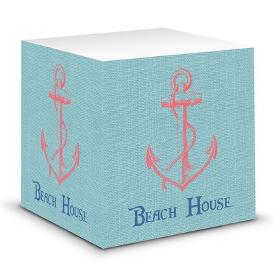 Chic Beach House Sticky Note Cube
