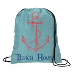 Chic Beach House Drawstring Backpack