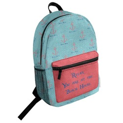 Chic Beach House Student Backpack