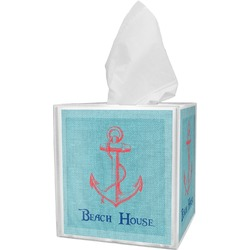 Chic Beach House Tissue Box Cover