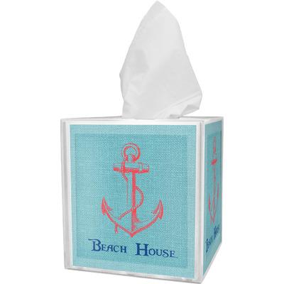 Chic Beach House Tissue Box Cover