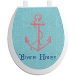 Chic Beach House Toilet Seat Decal