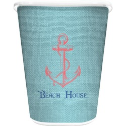 Chic Beach House Waste Basket - Double Sided (White)