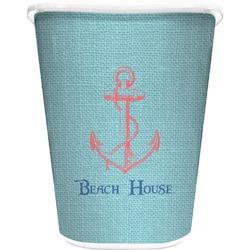 Chic Beach House Waste Basket - Single Sided (White)