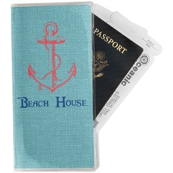 Chic Beach House Travel Document Holder
