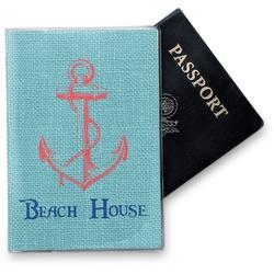 Chic Beach House Vinyl Passport Holder