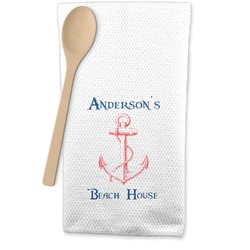 Chic Beach House Waffle Weave Kitchen Towel