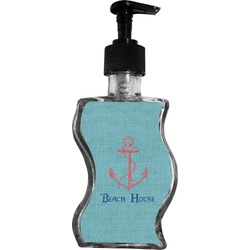 Chic Beach House Wave Bottle Soap / Lotion Dispenser