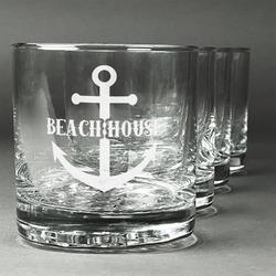 Chic Beach House Whiskey Glasses (Set of 4)