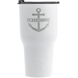 Chic Beach House RTIC Tumbler - White - Engraved Front