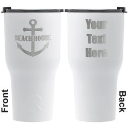 Chic Beach House RTIC Tumbler - White - Engraved Front & Back