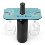 Chic Beach House Wine Bottle & Glass Holder