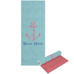 Chic Beach House Yoga Mat - Printable Front and Back