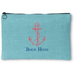 """Chic Beach House Zipper Pouch - Small - 8.5""""x6"""""""