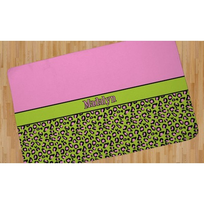 Pink Amp Lime Green Leopard Area Rug Personalized