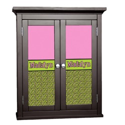 Pink & Lime Green Leopard Cabinet Decal - XLarge (Personalized)