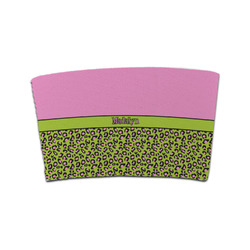 Pink & Lime Green Leopard Coffee Cup Sleeve (Personalized)