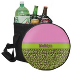 Pink & Lime Green Leopard Collapsible Cooler & Seat (Personalized)
