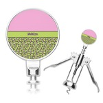 Pink & Lime Green Leopard Corkscrew (Personalized)