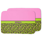 Pink & Lime Green Leopard Dish Drying Mat (Personalized)
