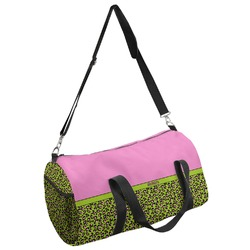 Pink & Lime Green Leopard Duffel Bag (Personalized)