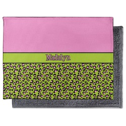 Pink & Lime Green Leopard Microfiber Screen Cleaner (Personalized)