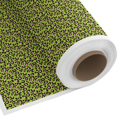 Pink & Lime Green Leopard Custom Fabric by the Yard (Personalized)