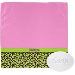 Pink & Lime Green Leopard Wash Cloth (Personalized)